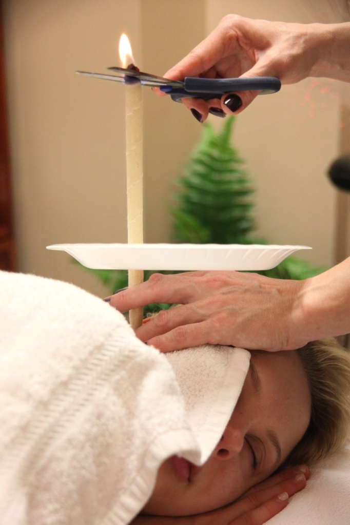 Ear candling for earwax removal